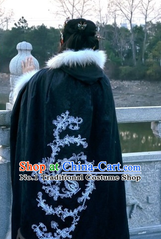 White China Ancient Cultural Garment Hanfu Mantle Clothes