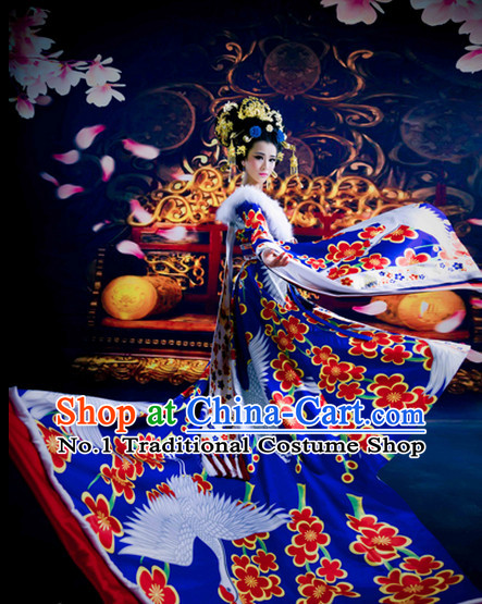 China Tang Dynasty Empress Crane Clothing