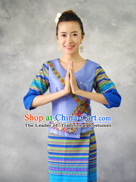 Traditional Thailand Customs Formal Clothing and Hair Accessories for Women
