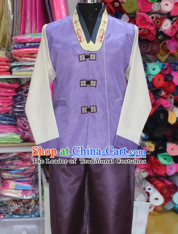 Asia Fashion Korean Jacket and Pants Hanbok Suit for Men