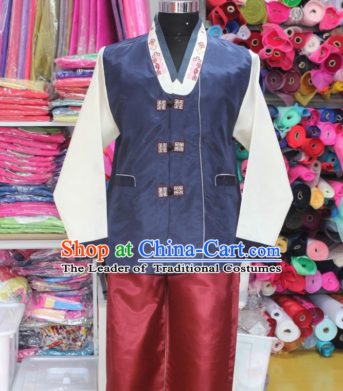 Asia Fashion Korean Jacket and Pants Hanbok Clothing for Men