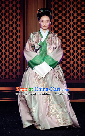 Ancient Korean Imperial Queen Costume and Headpieces Complete Set