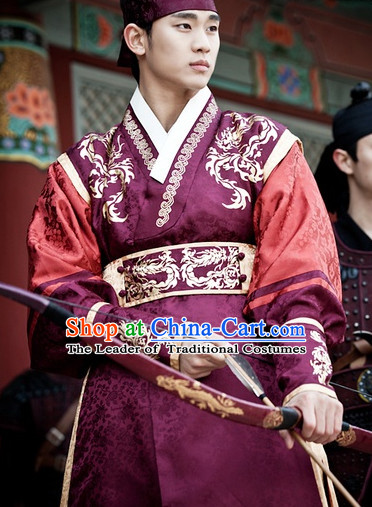 Ancient Korean Palace Imperial Archer Costume and Head Band Complete Set