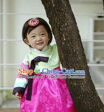 Korean Traditional Hanbok Dress for Kids