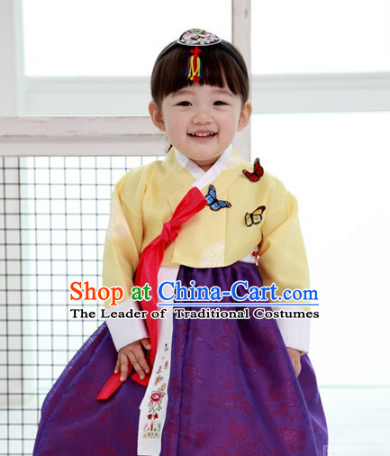 Korean Traditional Hanbok Dress for Little Girls