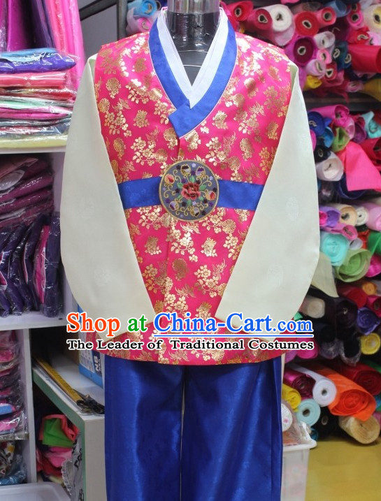 Made to Order Plus Size Korean Fashion Hanbok Clothing Complete Set for Men