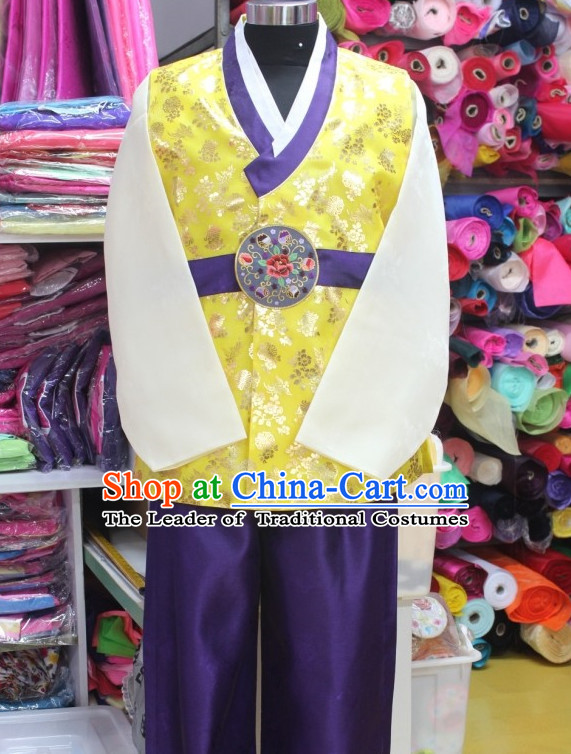 Plus Size Korean Fashion Hanboks Complete Set for Men