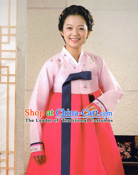 Korean Traditional Hanbok Robe for Ladies