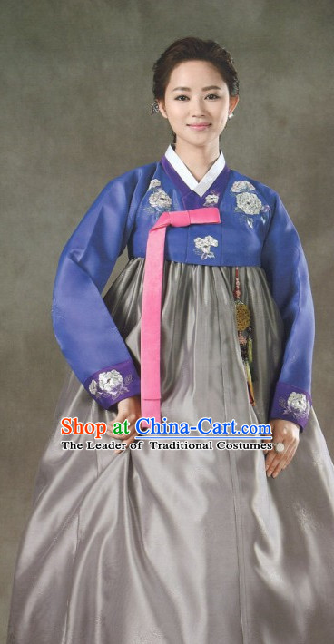 Cutom Made Korean Fashion Hanbok Dresses Complete Set for Women