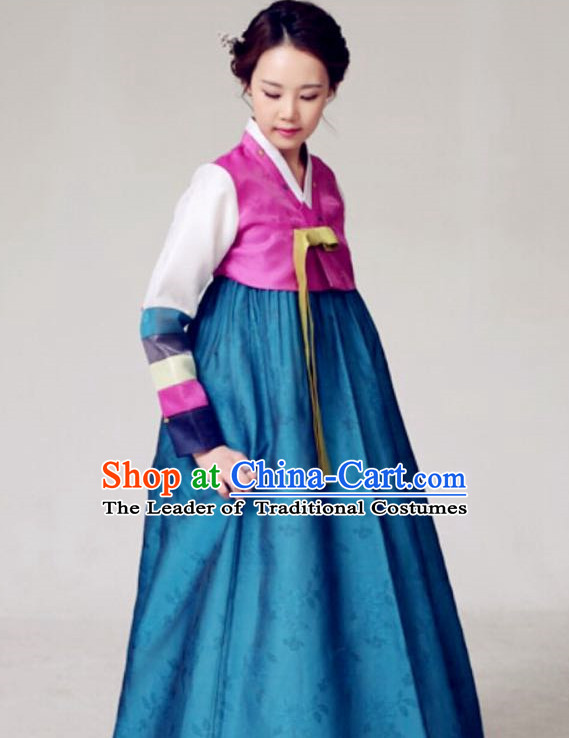 Korean Classicial Fashion Hanbok Dresses Complete Set for Women