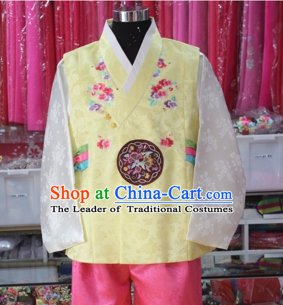 Top Korean Fashion Hanbok Blouse and Pant Complete Set for Men