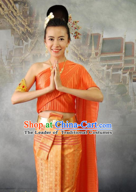 Thailand Big Festival Celebration Traditional Dresses Occasion Dresses