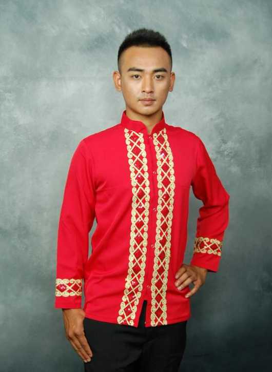 Thailand Red Wedding Classic Clothing and Pants for Men