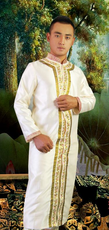 Thailand Clothing Long Robe for Men