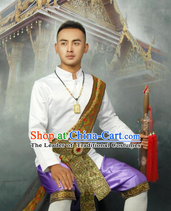 Thailand National Blouse and Pants Clothing for Men
