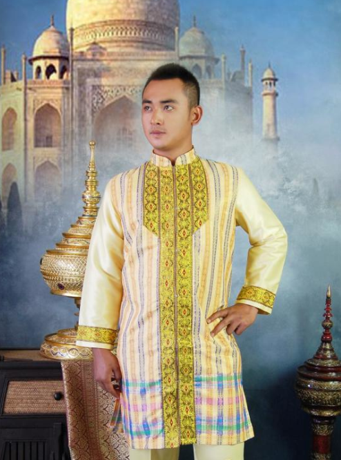 Thailand Formal Dresses online Clothes Shopping Long Robe for Men