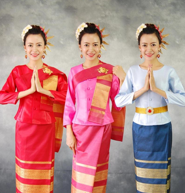 Traditional Thailand Folk Dresses for Women
