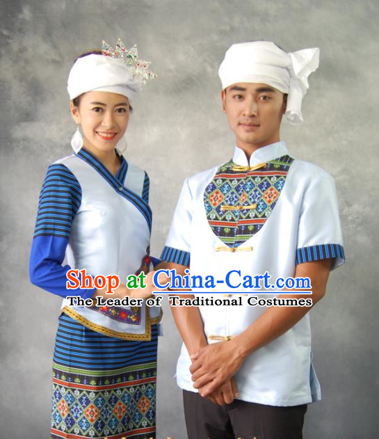 Thailand National Costume 2 Sets for Men and Women