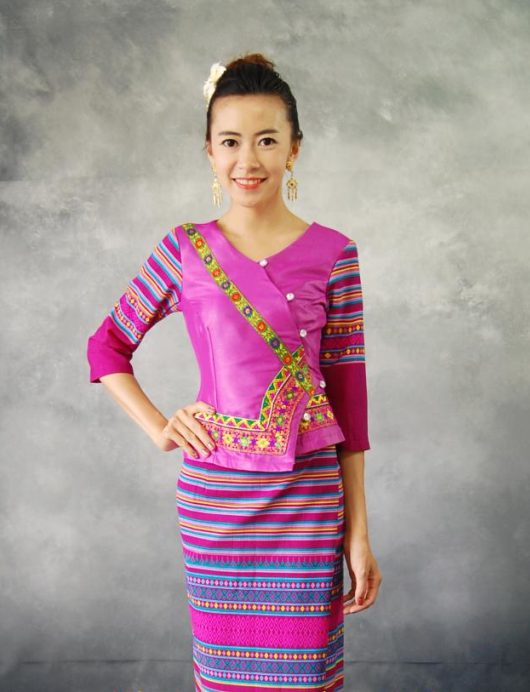 Thailand Traditional Uniform Complete Set for Women