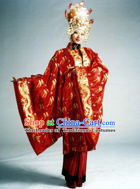 Ancient Imperial Wedding Dresses and Hat Complete Set for Women