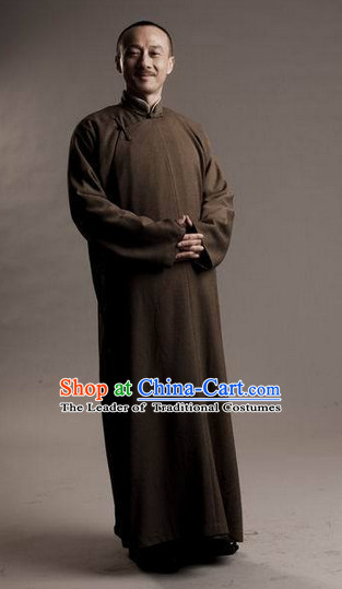 Minguo Male Long Robe