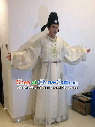 Tang Dynasty Official Clothes and Hat Complete Set for Men