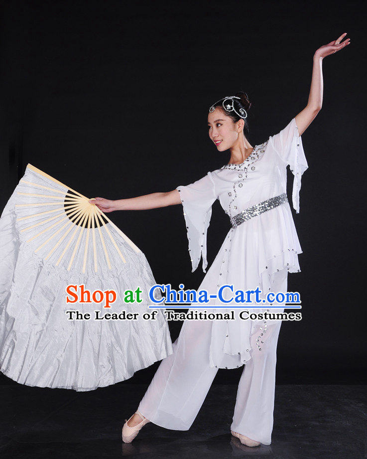 Pure White Classical Dancewear and Hair Decorations for Women.