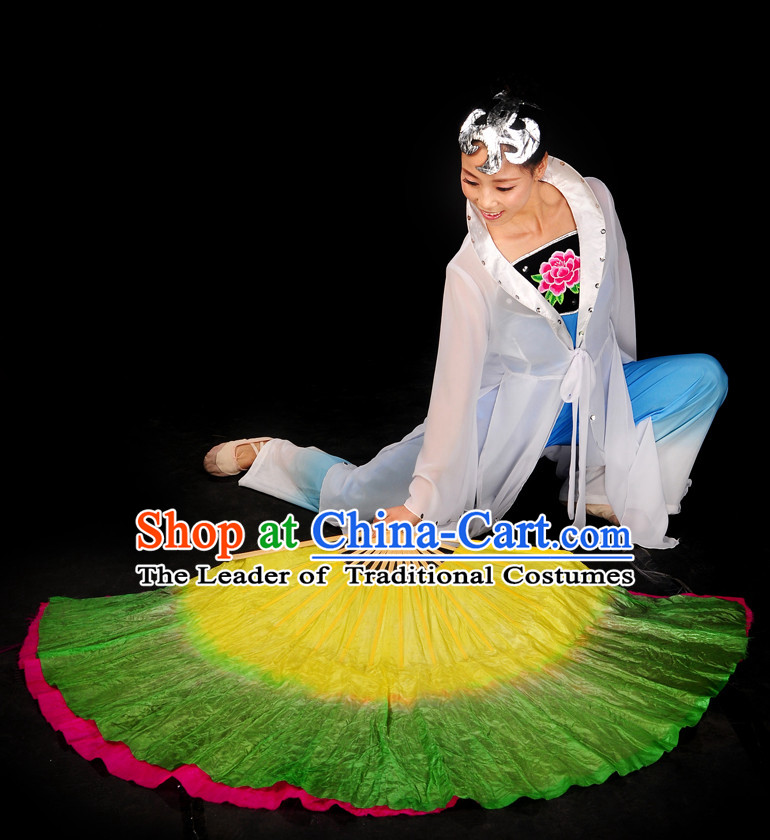 Big Classic Pure Silk Dance Fan