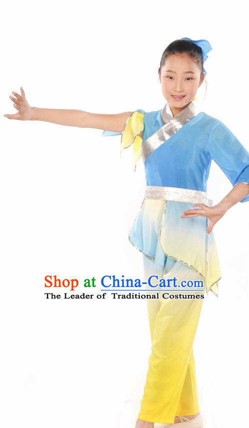 Ancient Student Dance Costumes and Headdress Complete Set for Kids