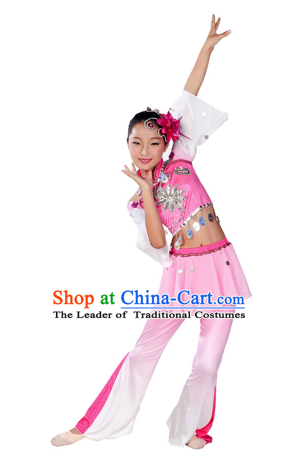 Asian Kids Yangge Dance Suits Solo or Group Dance