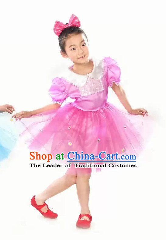 Lovely Primary Student Dance Costume and Headpiece for Children