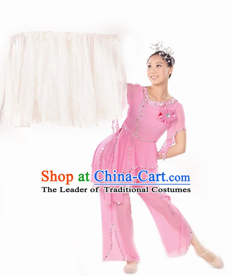 Light Pink Fan Dance Suit for Women