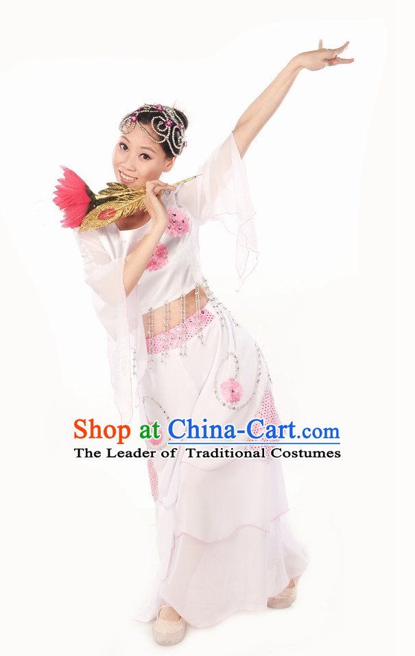 Classic Fan Dance Costume for Girls
