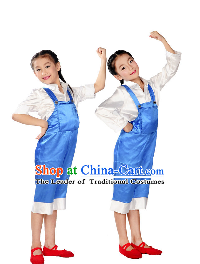 Group Dance Worker Uniform Costume for Kids