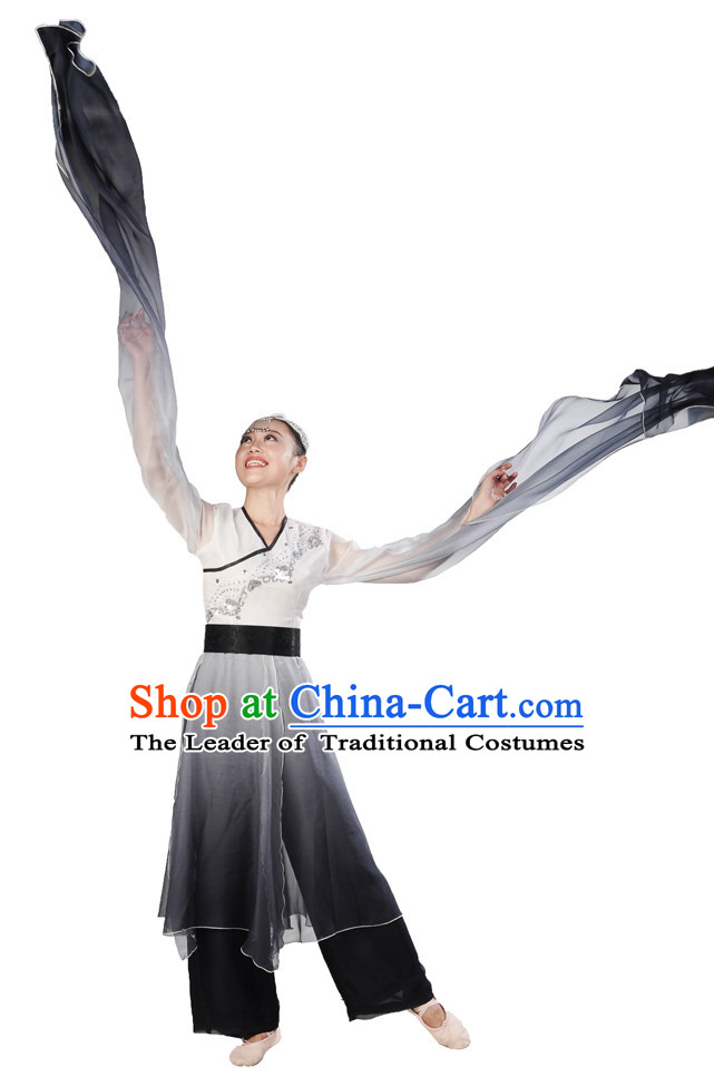 Water Sleeves Dancing Costume for Women