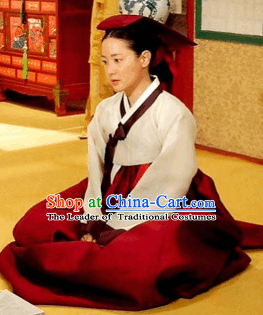 Ancient Korean Palace Service Women Hanbok