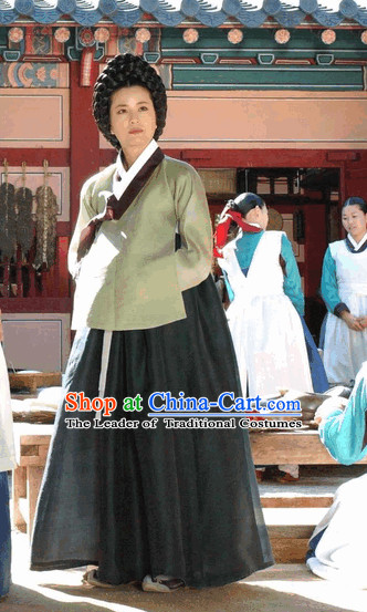 Ancient Korea Palace Service People in Charge Hanbok