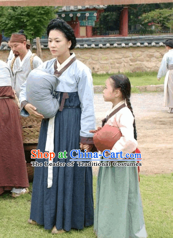 Ancient Korean Civilian Costume for Women and Daughter