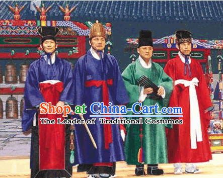 Ancient Korean Palace Musician Costumes 4 Sets
