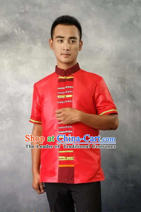 Thailand Fashion Thailand Customs Traditional Shirt for Men