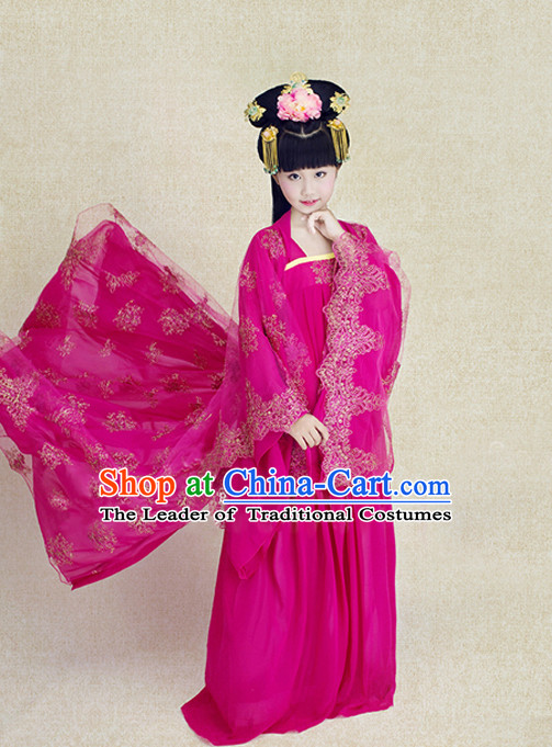Tang Dynasty Princess Kids Hanfu Outfits