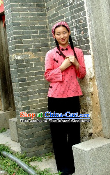 Traditional Chinese Hakka Family Dresses and Hat for Women