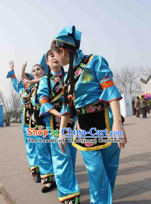 Traditional Chinese Hakka Female Folk Dance Costumes