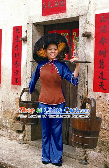 Traditional Hakka Style Dresses and Hat for Women