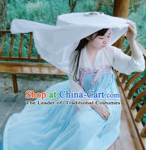 Ancient Traditional Chinese Plus Size Dresses and Bamboo Hat online Shopping