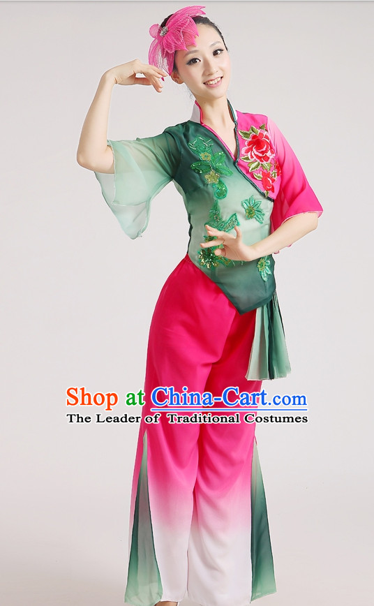 Chinese Competition Fan Dance Costumes for Women