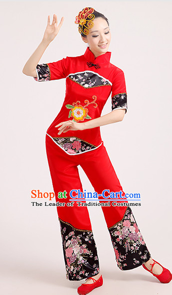 Chinese Competition Classicial Fan Dancing Uniform for Women