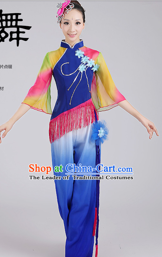 Chinese Fan Dancewear and Headpieces Complete Set for Woen