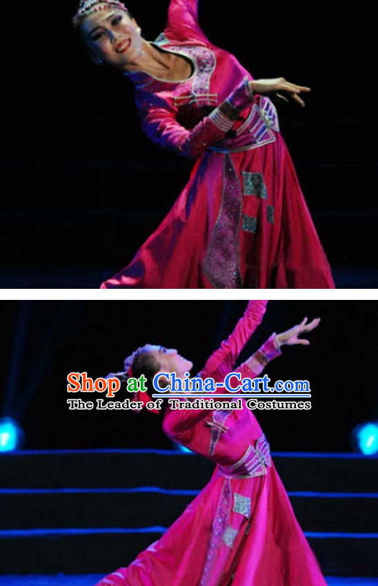 Chinese Mongolian Dance Woman Costume Dance Costumes