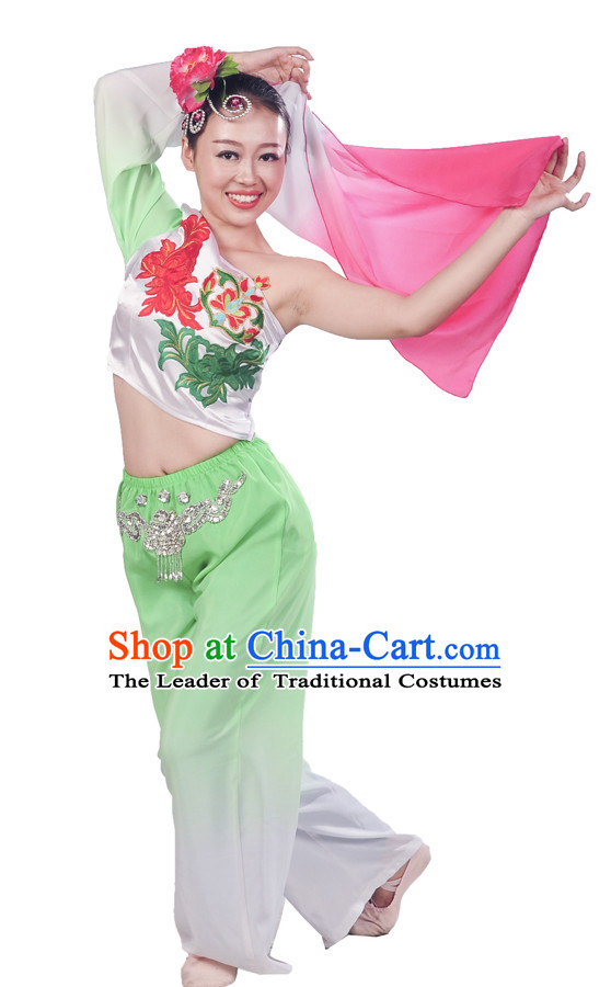 Chinese Classical FanDance Costume Uniforms for Women